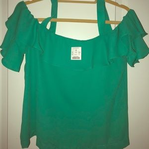 J. Crew cold shoulder top NWT Size M